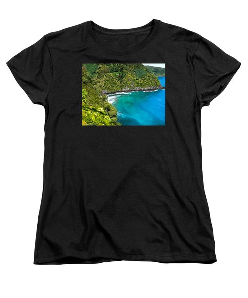 Women's T-Shirt (Standard Cut) featuring the photograph Dolphin Cove by Debbie Karnes