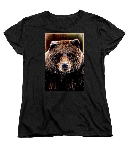 Women's T-Shirt (Standard Cut) featuring the digital art Don't Run by Aaron Berg