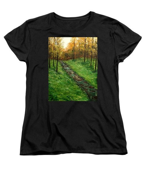 Don't Worry Anymore Women's T-Shirt (Standard Cut) by Lisa Aerts