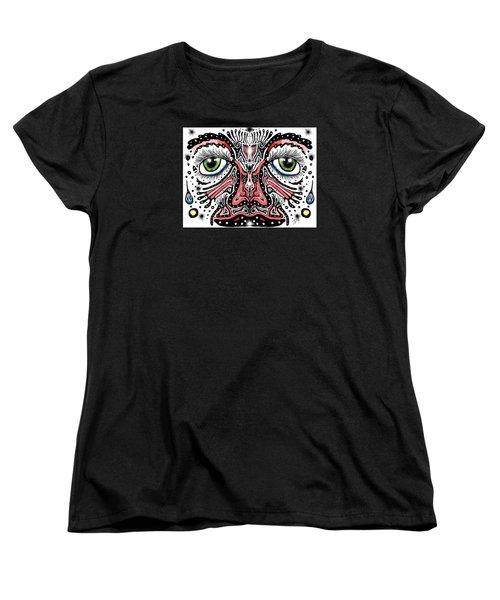 Doodle Face Women's T-Shirt (Standard Cut) by Darren Cannell