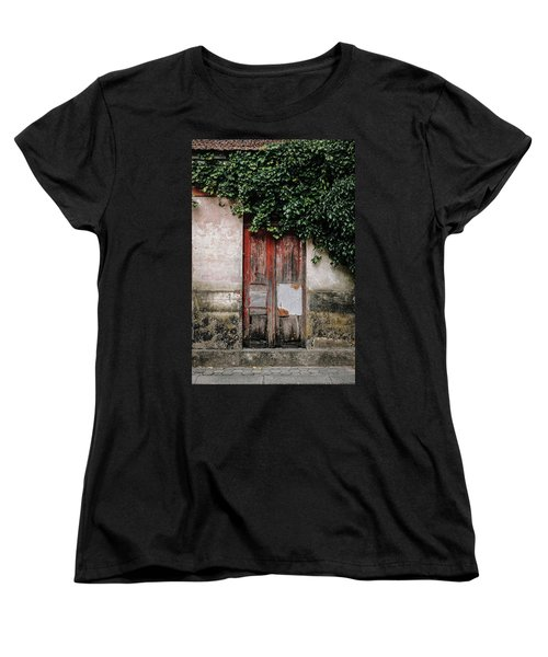 Women's T-Shirt (Standard Cut) featuring the photograph Door Covered With Ivy by Marco Oliveira