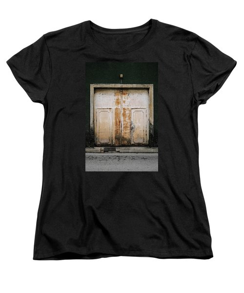Women's T-Shirt (Standard Cut) featuring the photograph Door No 163 by Marco Oliveira
