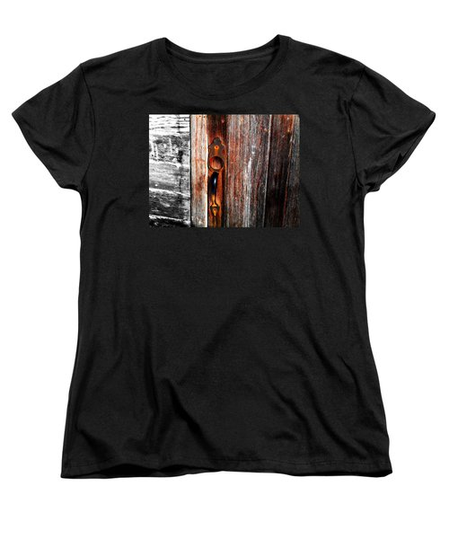 Door To The Past Women's T-Shirt (Standard Cut) by Julie Hamilton