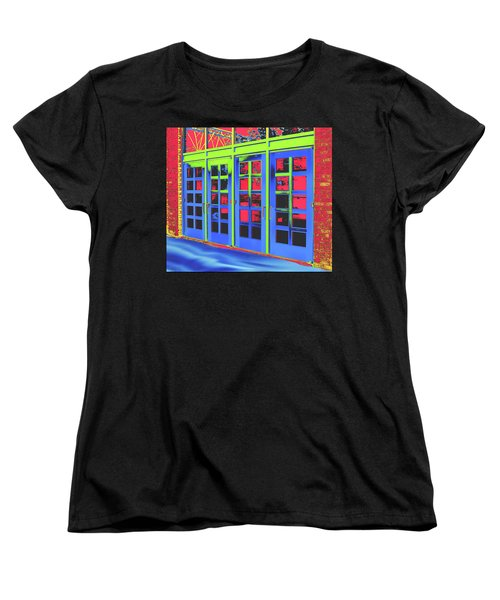Women's T-Shirt (Standard Cut) featuring the digital art Doorplay by Wendy J St Christopher