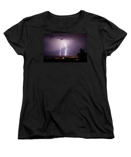 Women's T-Shirt (Standard Cut) featuring the photograph Double Trouble by Ron Chilston