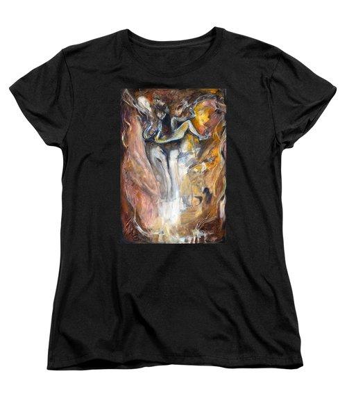 Down The Rabbit Hole Women's T-Shirt (Standard Cut) by Nadine Dennis