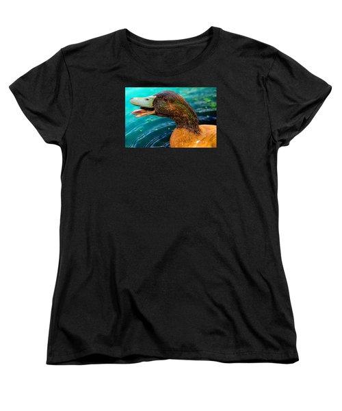 Down You Go Escargot Women's T-Shirt (Standard Cut) by Brian Stevens