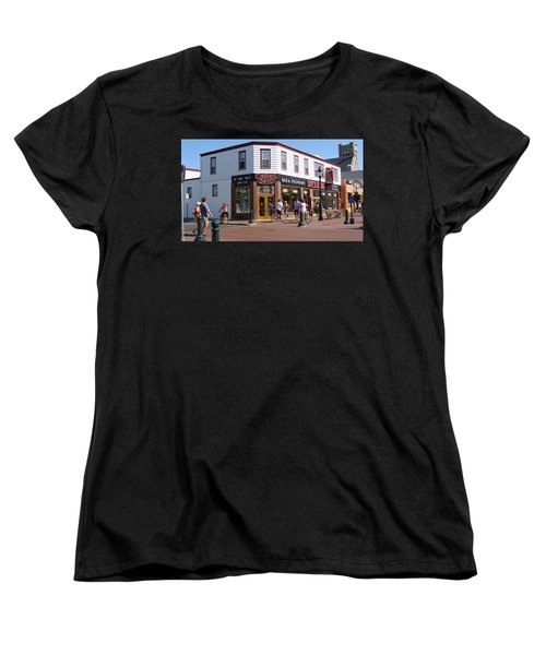 Women's T-Shirt (Standard Cut) featuring the painting Downtown Cape May New Jersey by Rod Jellison