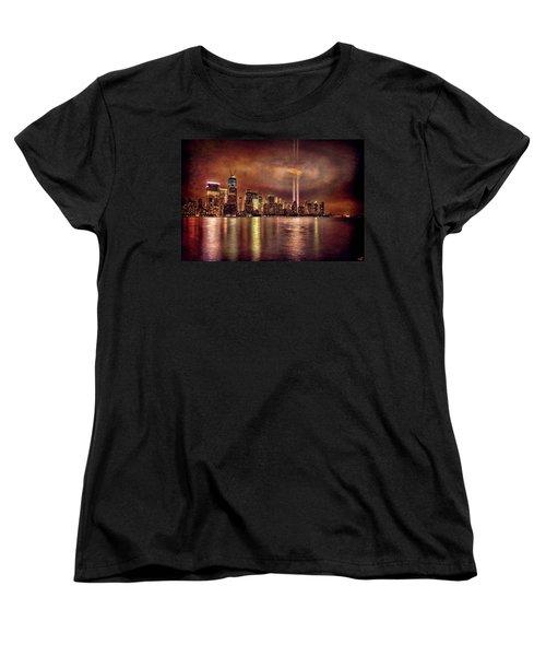 Downtown Manhattan September Eleventh Women's T-Shirt (Standard Cut) by Chris Lord