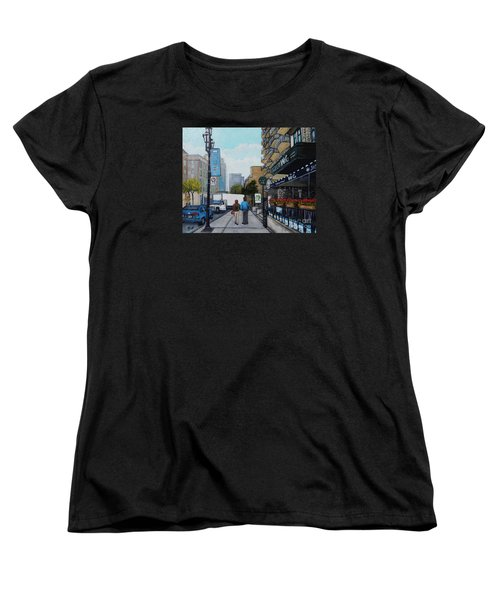 Downtown Montreal Women's T-Shirt (Standard Cut) by Reb Frost