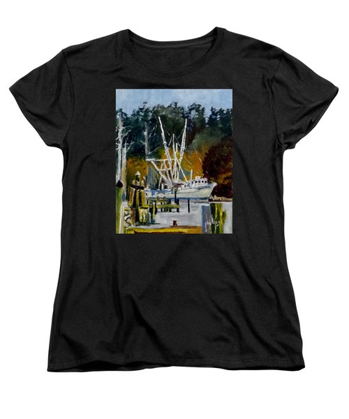 Women's T-Shirt (Standard Cut) featuring the painting Downtown Parking by Jim Phillips