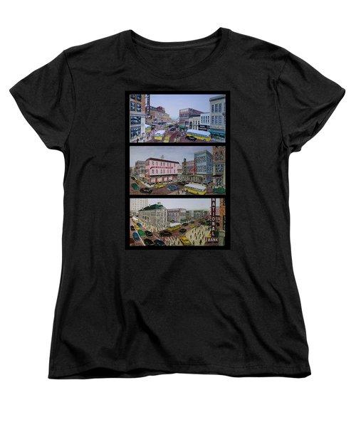 Downtown Portsmouth 1948 Women's T-Shirt (Standard Cut) by Frank Hunter