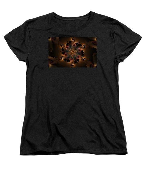 Dragon Flower Women's T-Shirt (Standard Cut) by GJ Blackman