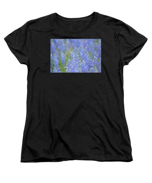 Women's T-Shirt (Standard Cut) featuring the photograph Dreaming Bluebonnets 1 by Carolina Liechtenstein