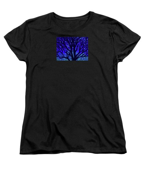 Women's T-Shirt (Standard Cut) featuring the painting Dreams Of Needham by Jean Pacheco Ravinski