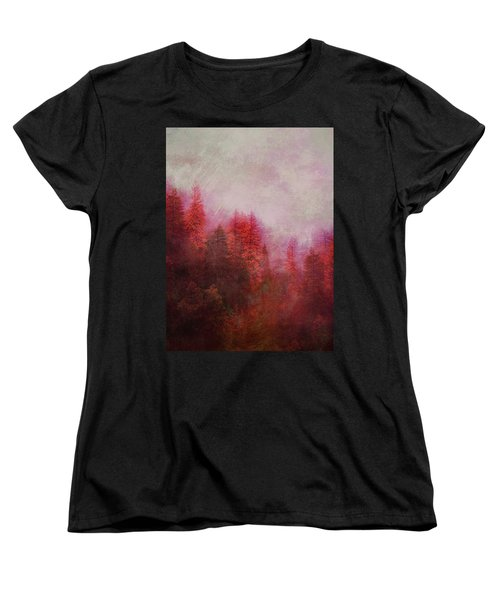 Dreamy Autumn Forest Women's T-Shirt (Standard Cut) by Klara Acel