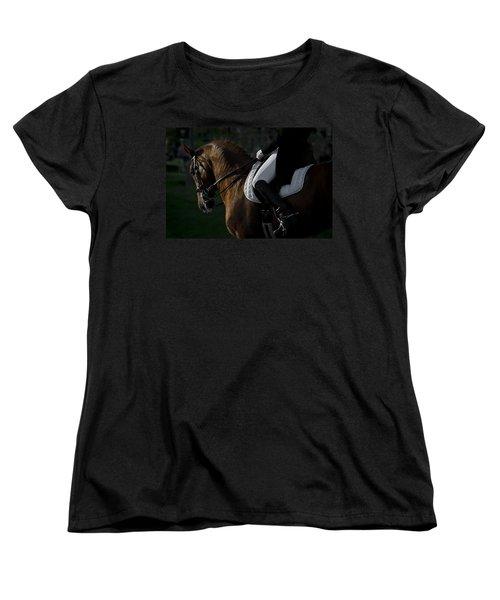 Women's T-Shirt (Standard Cut) featuring the photograph Dressage D5284 by Wes and Dotty Weber