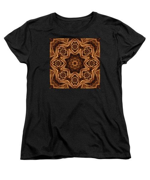 Dried Grass Mandala Women's T-Shirt (Standard Cut) by Lyle Hatch
