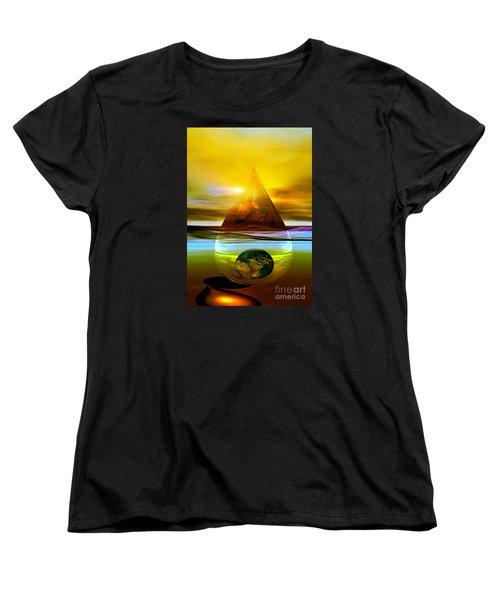 Women's T-Shirt (Standard Cut) featuring the digital art Drop Z by Shadowlea Is