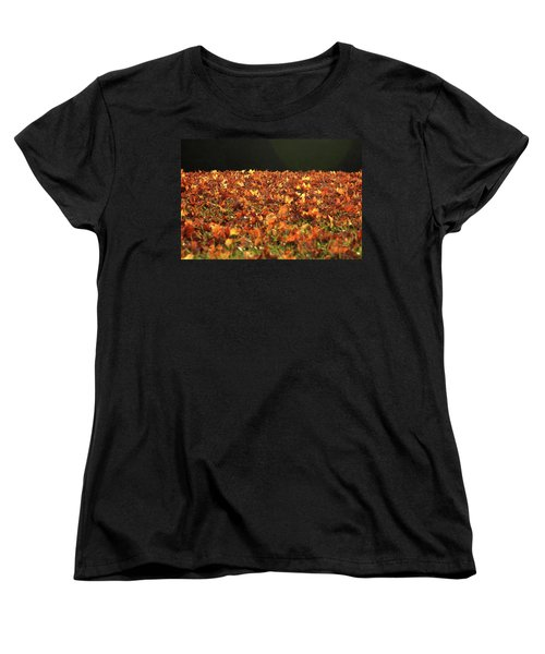 Dry Maple Leaves Covering The Ground Women's T-Shirt (Standard Cut)