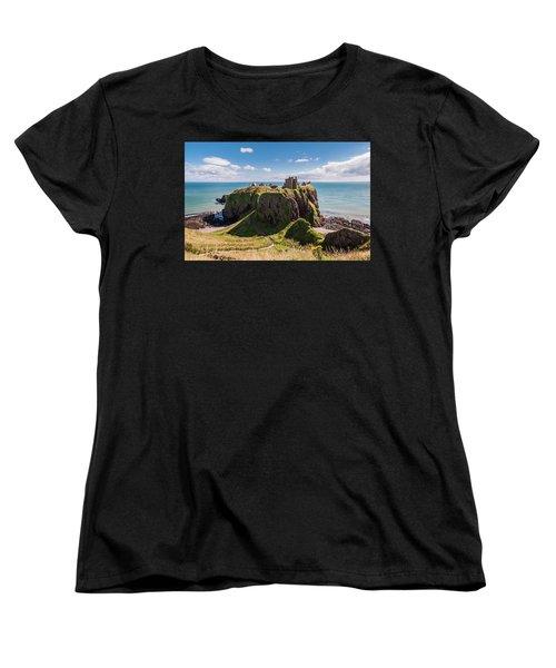 Women's T-Shirt (Standard Cut) featuring the photograph Dunnotar Castle by Sergey Simanovsky