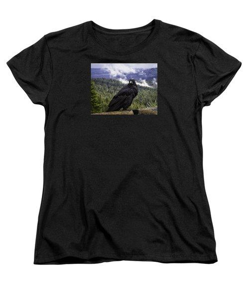 Dunraven Raven Women's T-Shirt (Standard Cut) by Elizabeth Eldridge