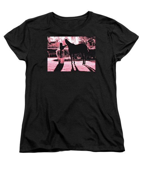 Dylly And Lizzy Pink Women's T-Shirt (Standard Cut) by Valerie Rosen