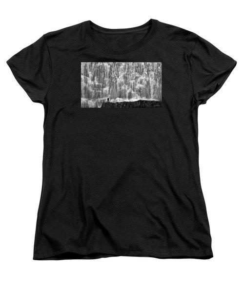 Women's T-Shirt (Standard Cut) featuring the photograph Dynjandi Daredevil No. 2 by Joe Bonita