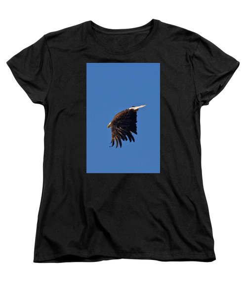 Women's T-Shirt (Standard Cut) featuring the photograph Eagle Dive by Linda Unger
