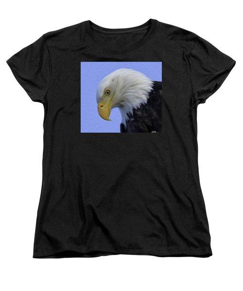 Eagle Head Paint Women's T-Shirt (Standard Cut) by Sheldon Bilsker