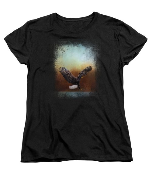 Eagle Hunting In The Marsh Women's T-Shirt (Standard Cut) by Jai Johnson