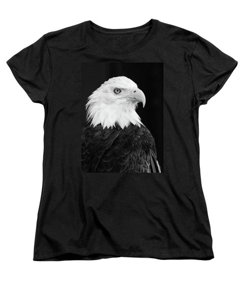 Women's T-Shirt (Standard Cut) featuring the photograph Eagle Portrait Special  by Coby Cooper