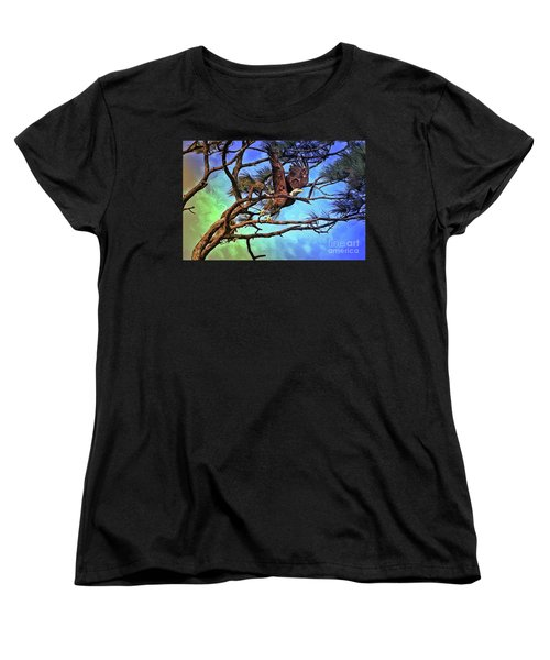Women's T-Shirt (Standard Cut) featuring the painting Eagle Series 2 by Deborah Benoit