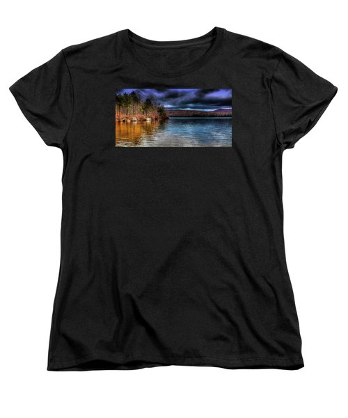 Women's T-Shirt (Standard Cut) featuring the photograph Early May On Limekiln Lake by David Patterson
