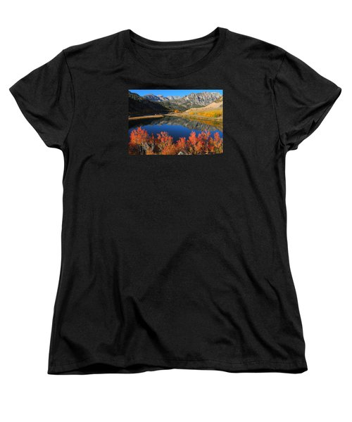 Early Morning At North Lake In Bishop Creek Canyon Women's T-Shirt (Standard Cut) by Jetson Nguyen