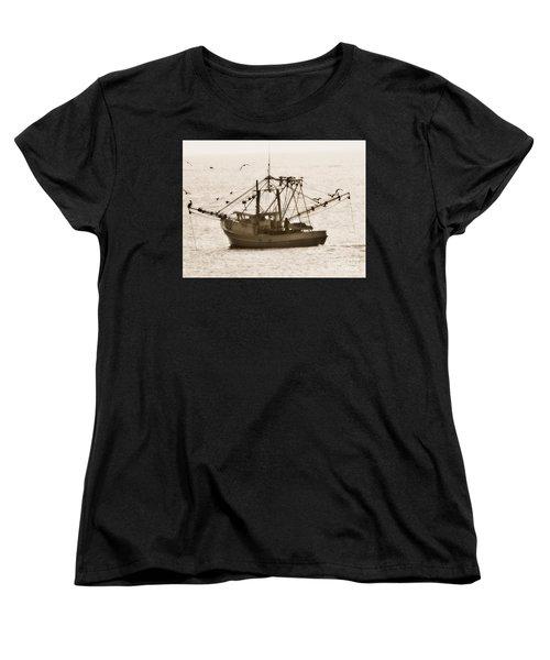Early Morning Trawling  Women's T-Shirt (Standard Cut) by Christy Ricafrente