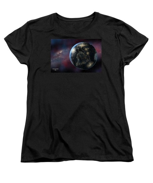 Earth One Day Women's T-Shirt (Standard Cut) by David Collins