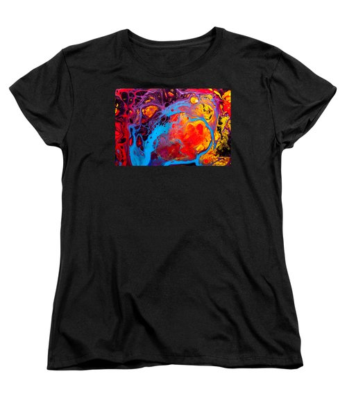 Earth Water Wind Fire - Abstract Painting Women's T-Shirt (Standard Cut) by Modern Art Prints