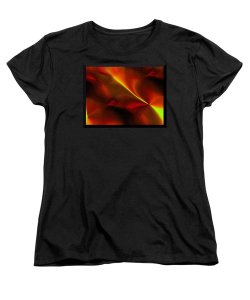 Women's T-Shirt (Standard Cut) featuring the digital art Body Heat by Yul Olaivar