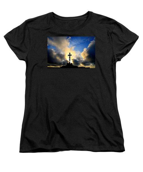 Easter Cross Women's T-Shirt (Standard Cut) by Sharon Soberon