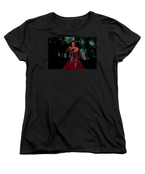 Women's T-Shirt (Standard Cut) featuring the photograph Eerie Woods by Brian Hughes