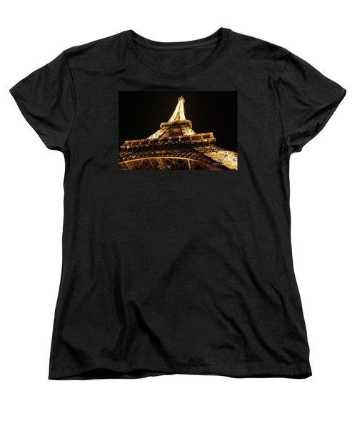 Women's T-Shirt (Standard Cut) featuring the photograph Eiffel Tower At Night by MGL Meiklejohn Graphics Licensing