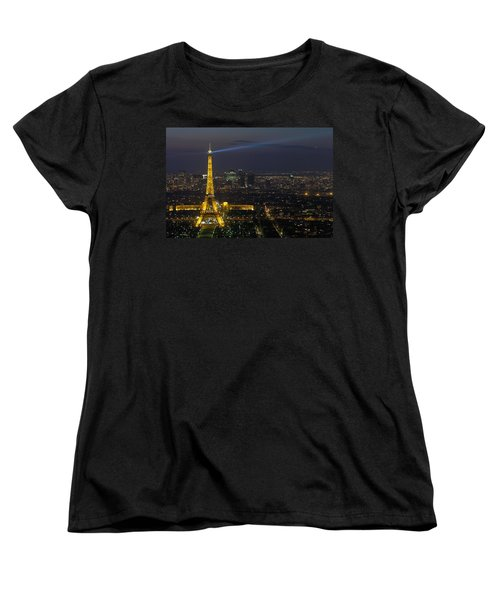 Eiffel Tower At Night Women's T-Shirt (Standard Cut)