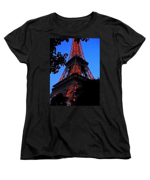 Eiffel Tower Women's T-Shirt (Standard Cut) by Juergen Weiss