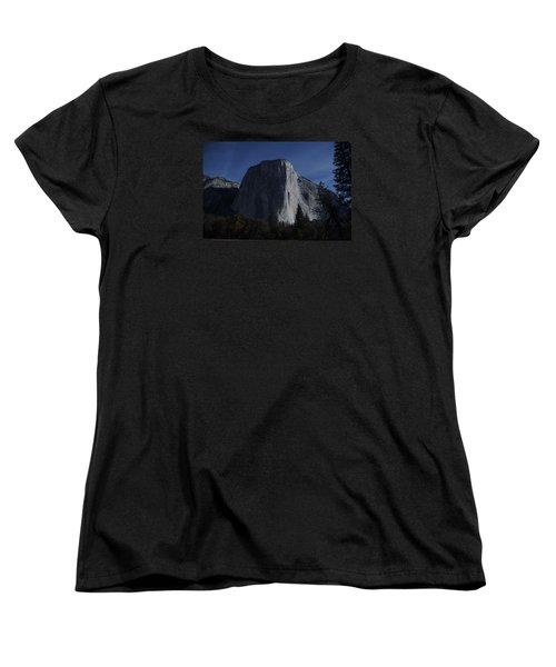 El Capitan In Moonlight Women's T-Shirt (Standard Cut) by Michael Courtney