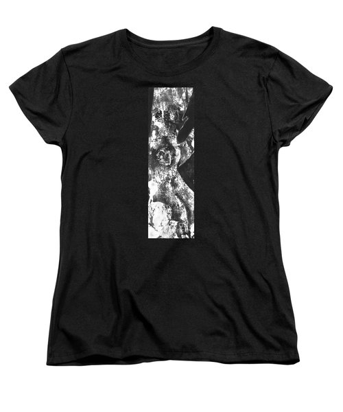 Women's T-Shirt (Standard Cut) featuring the painting Elder by Carol Rashawnna Williams