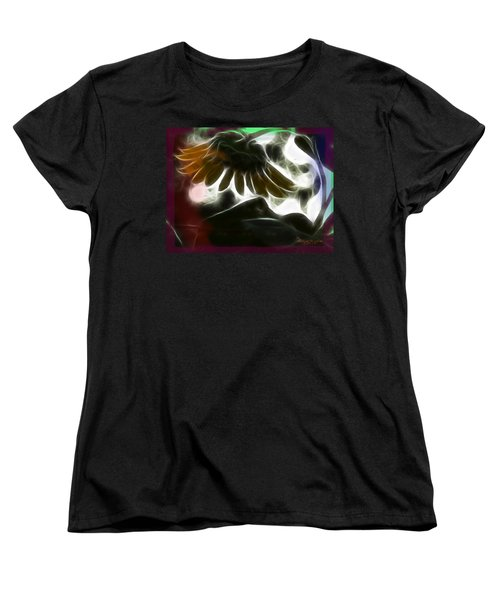 Women's T-Shirt (Standard Cut) featuring the photograph Electric Sunflower by EricaMaxine  Price