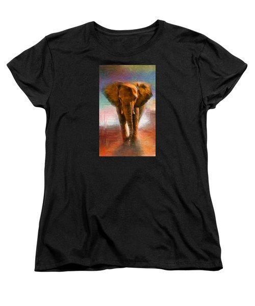 Elephant 1 Women's T-Shirt (Standard Cut) by Caito Junqueira