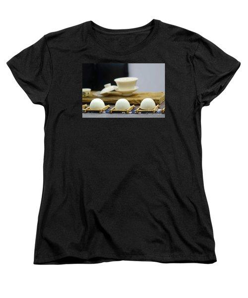 Elegant Chinese Tea Set Women's T-Shirt (Standard Cut) by Yali Shi