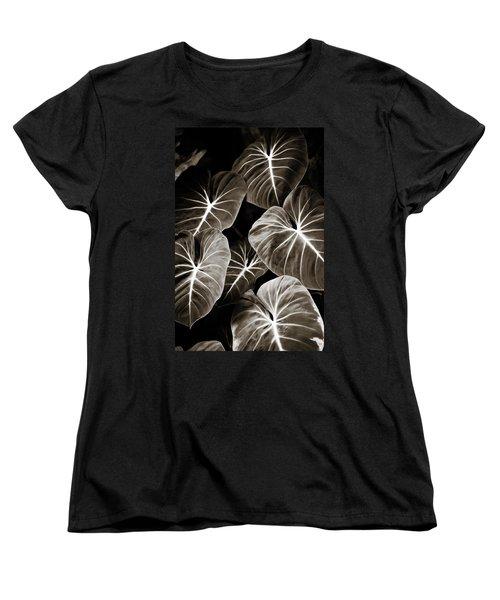 Elephant Ears On Parade Women's T-Shirt (Standard Cut) by Marilyn Hunt